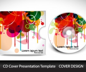 Colorful CD Cover presentation elements vector set 03