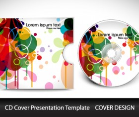 Colorful CD Cover presentation elements vector set 04