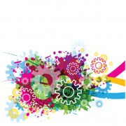 Link toSet of colorful gear vector background 03