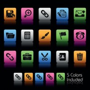 Link toSet of commonly web colorful icons vector 01