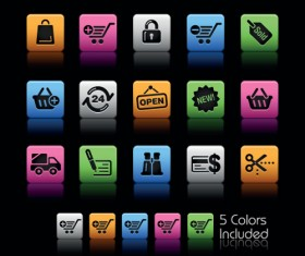 Set of Commonly web Colorful Icons vector 02