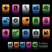 Link toSet of commonly web colorful icons vector 04