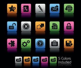 Set of Commonly web Colorful Icons vector 04