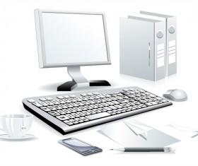 Modern Computer design vector material 03
