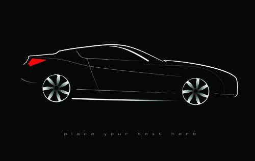 Concept cars elements vector backgrounds art 02