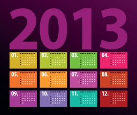Creative 2013 Calendars design elements vector set 06