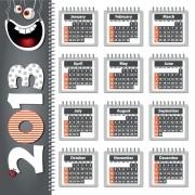 Link toCreative 2013 calendars design elements vector set 07