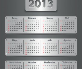 Creative 2013 Calendars design elements vector set 10