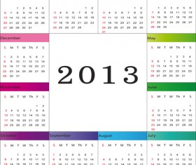 Creative 2013 Calendars design elements vector set 12