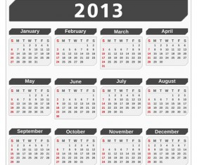 Creative 2013 Calendars design elements vector set 14