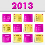 Link toCreative 2013 calendars design elements vector set 15