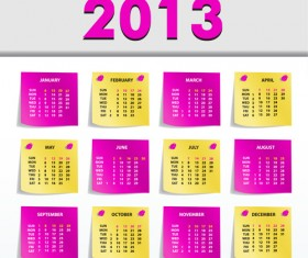 Creative 2013 Calendars design elements vector set 15