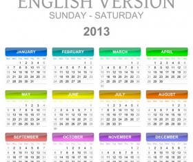 Creative 2013 Calendars design elements vector set 16