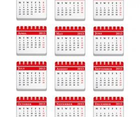 Creative 2013 Calendars design elements vector set 17