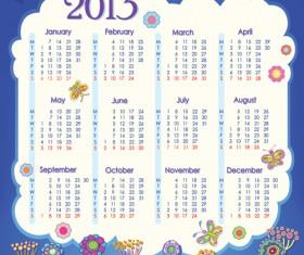 Creative 2013 Calendars design elements vector set 18