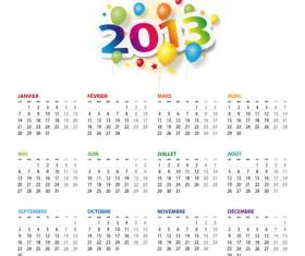Creative 2013 Calendars design elements vector set 21