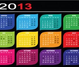 Creative 2013 Calendars design elements vector set 22