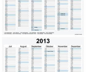Creative 2013 Calendars design elements vector set 23