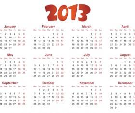 Creative 2013 Calendars design elements vector set 24