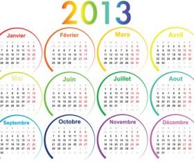 Creative 2013 Calendars design elements vector set 25