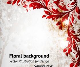 Delicate Floral pattern background element vector set 02