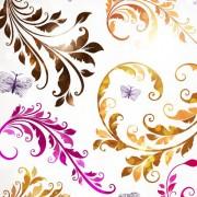 Link toDelicate floral pattern background element vector set 03
