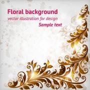 Delicate floral pattern background element vector set 04