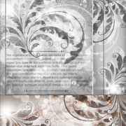 Delicate floral pattern background element vector set 05