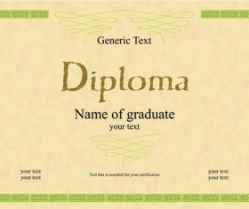 Creative Diploma and certificate design vector material 01