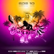 Link toMulticolor of disco party flyer design vector 02
