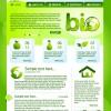 Green ECO Website Template design vector 02