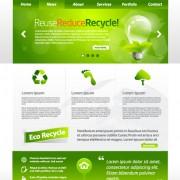 Link toGreen eco website template design vector 04
