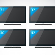 Link toSet of electronics lcd tv elements vector 01