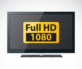 Set of Electronics lcd TV elements vector 05