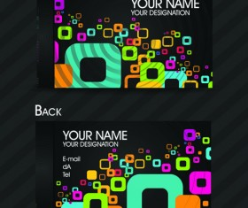 Set of Exquisite business card vector 02