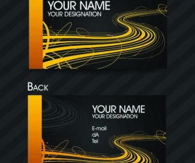 Set of Exquisite business card vector 03