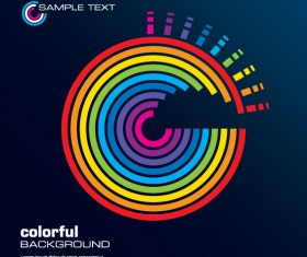 Rainbow of Business backgrounds vector 03
