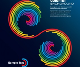 Rainbow of Business backgrounds vector 04