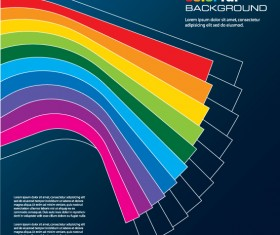 Rainbow of Business backgrounds vector 05