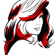 Link toSet of hand-drawn fashion model vector graphics 05