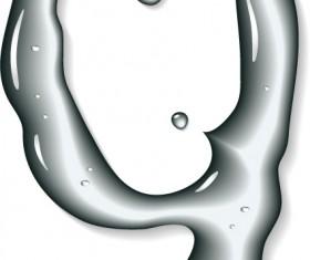 Set of Figures water design elements vector 07