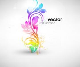Set of Floral Ornament vector Illustration 01