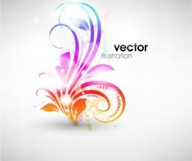 Set of Floral Ornament vector Illustration 02