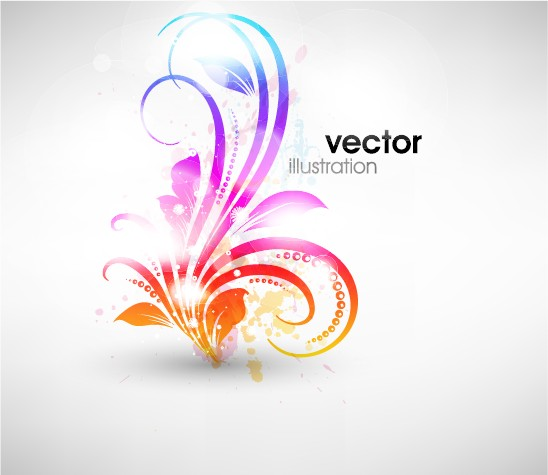 Set of Floral Ornament vector Illustration 02