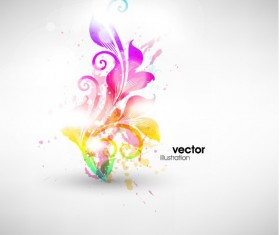 Set of Floral Ornament vector Illustration 03