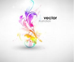 Set of Floral Ornament vector Illustration 04
