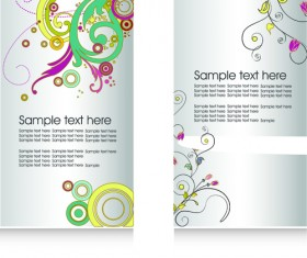 Floral Flyers and Brochures cover vector 03