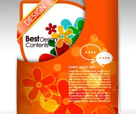 Colorful Folder element vector graphic 03