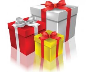 Exquisite Gift boxes design elements vector 02
