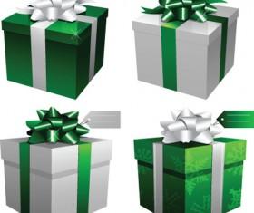 Exquisite Gift boxes design elements vector 03